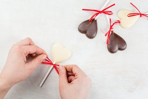 Choco candies for Valentine's day