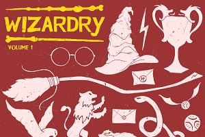 Harry Potter Inspired Wizardry Pack Illustrations