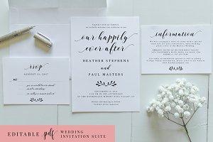 Wedding Invitation Suite - Editable