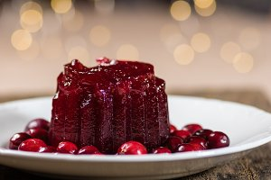 Cranberry sauce with lights