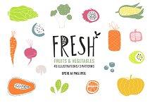 Fresh bundle of fruits & vegetables