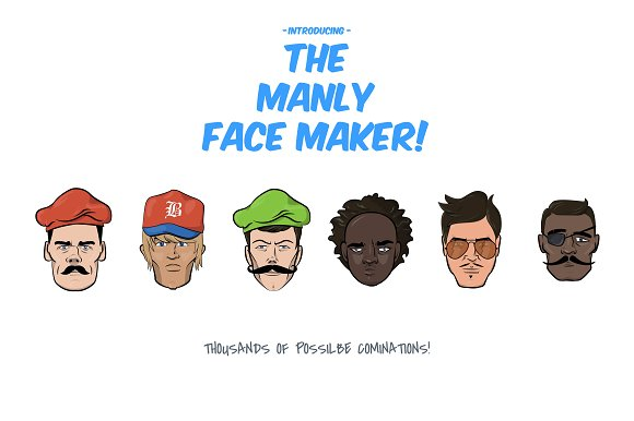 The Manly Face Maker
