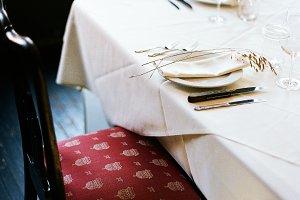 Fancy Dinner Table Set