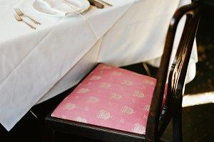 White Cloth Dinner Table Set