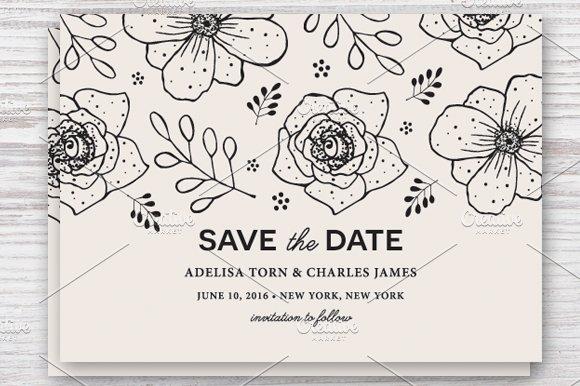 save the date template eps jpg invitation templates creative