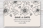 Save the Date Template EPS & JPG