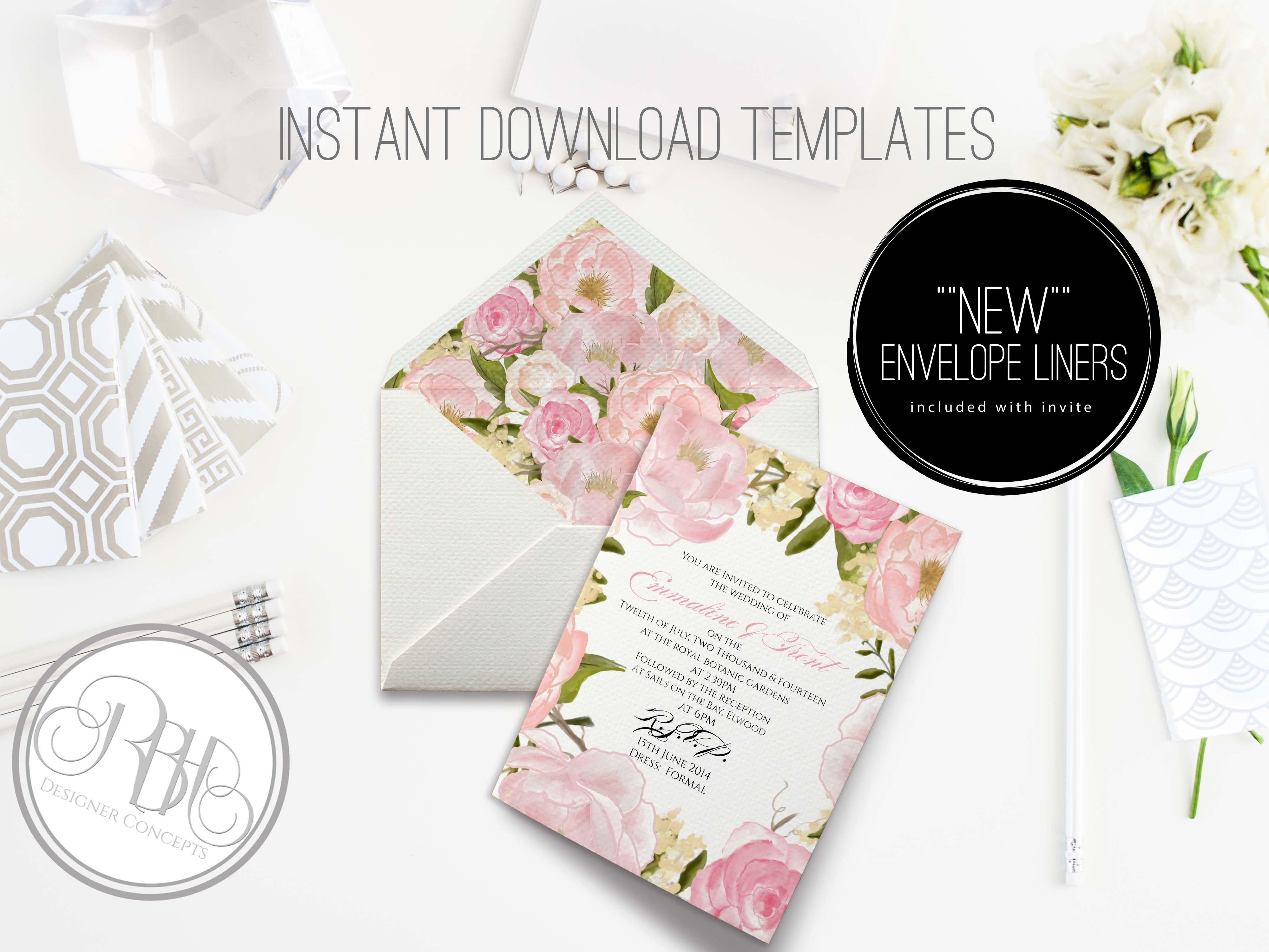 peony wedding invitation template - 28 images - delicate peony ...