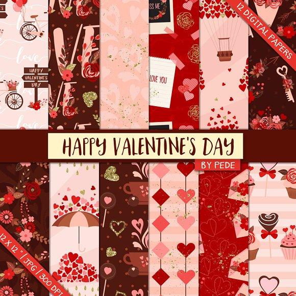 Happy Valentine's Day. Digital Paper