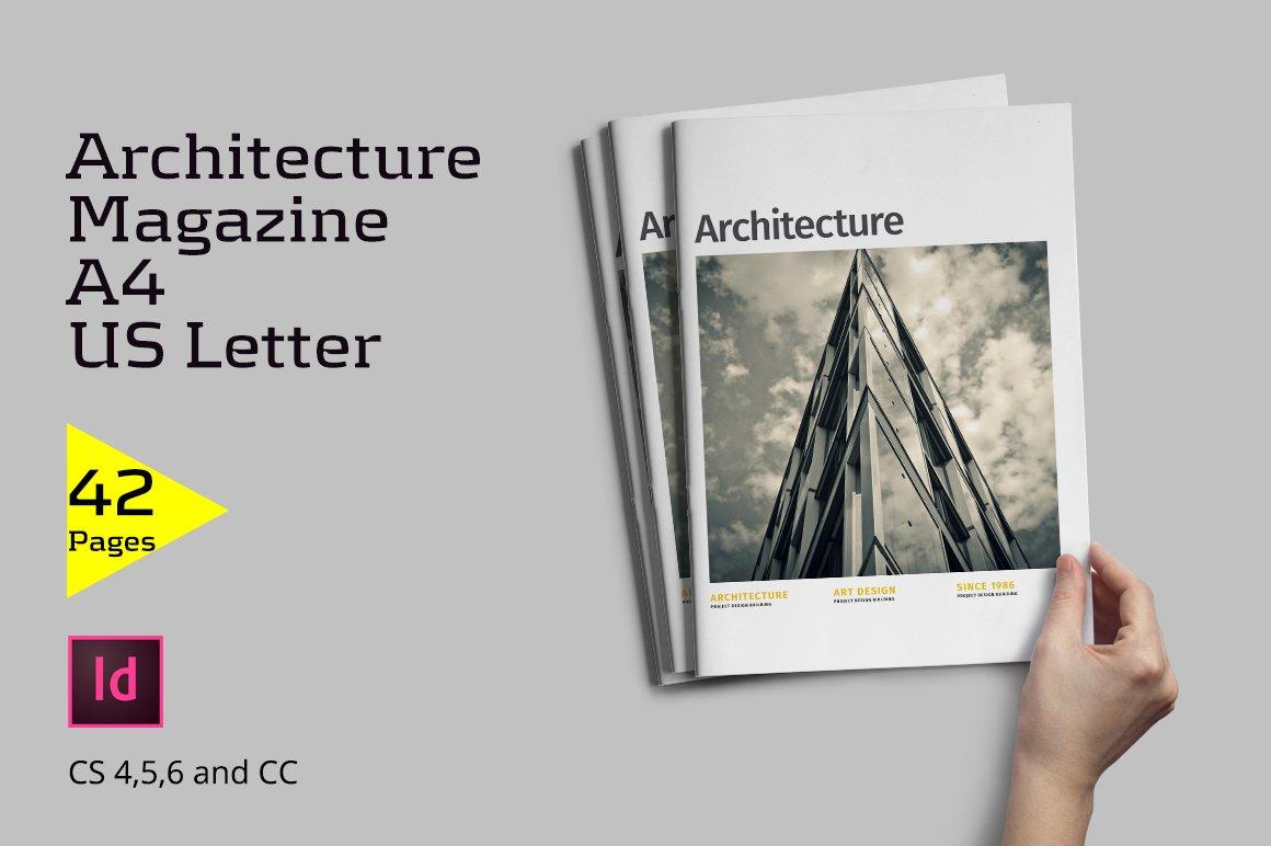 architecture magazine magazine templates creative market. Black Bedroom Furniture Sets. Home Design Ideas