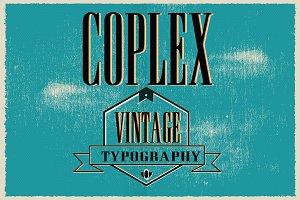Coplex Typeface