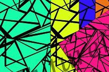 5 seamless pop art pattern .