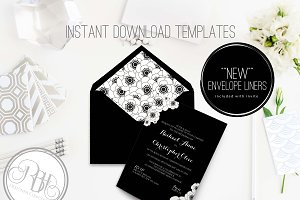 Black & White Invite Template