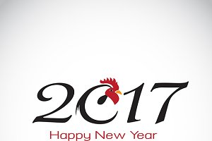 Year of the rooster. 2017