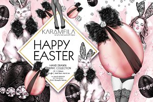 Happy Easter Fashion Clipart
