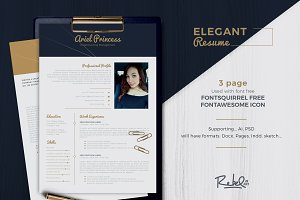 Elegant resume/cv - Sketch Support