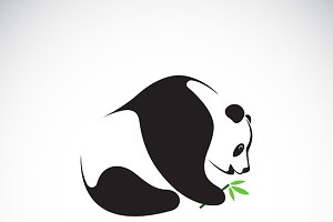 Vector of a panda design.