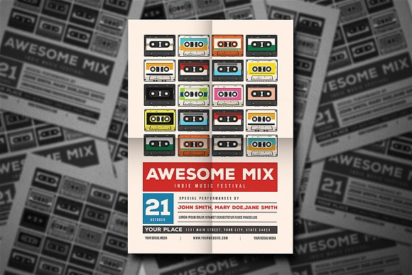 Awesome Mix Gigs Event Flyer