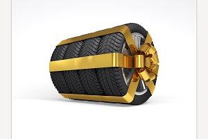 Gift set four tyres.