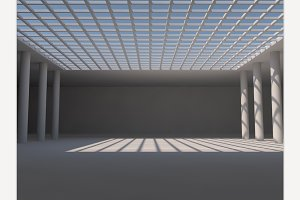 Empty light big hall
