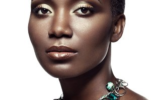 Beauty portrait of african girl