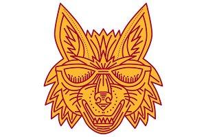 Coyote Head Sunglasses Smiling