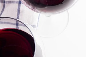 red wine closeup