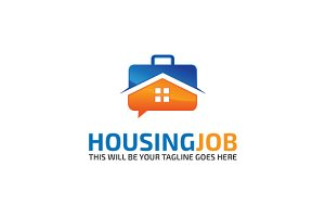 Housing-job Logo Template