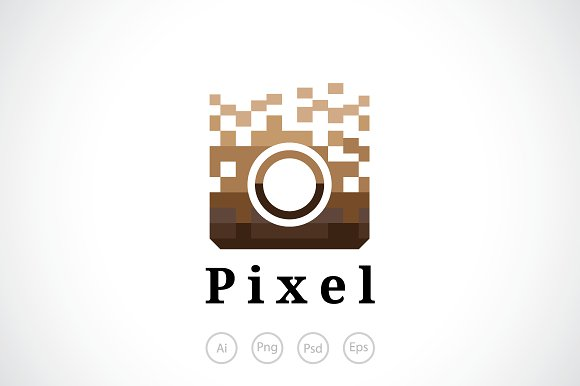 Pixel Camera Logo Template