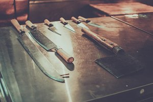 Knives (japan fish market)
