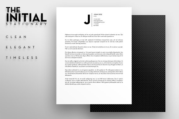 the initial letterhead template stationery templates creative