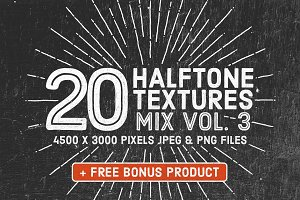 20 Halftone Textures Mix Vol. 3