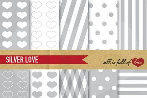 Silver Grey Digital Backdrop Pattern