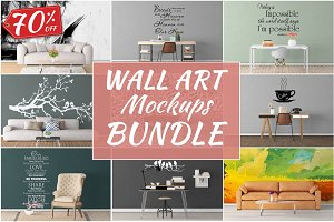 Wall Art Mockups BUNDLE V26