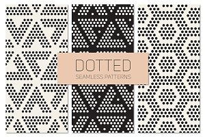 Dotted Seamless Patterns. Set 8