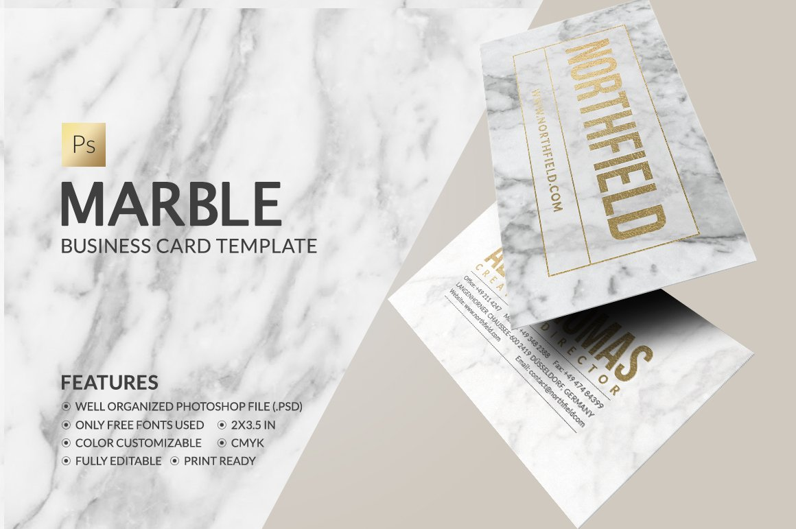 Marble Business Card ~ Business Card Templates ~ Creative Market