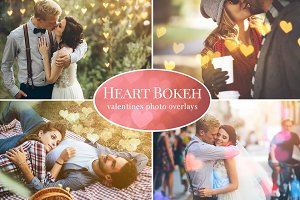 Heart Bokeh photo overlays