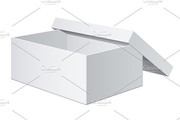 Cool Realistic White blank Box