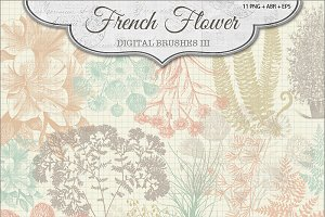 French Flower Brushes 3