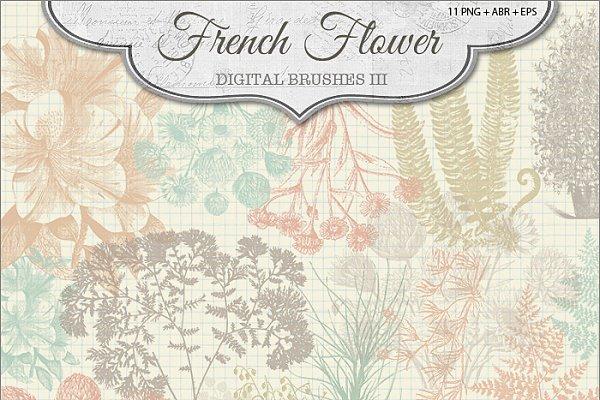 French Flower Brushes 3