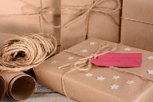 Christmas Packages and Twine