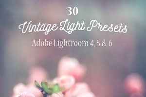 Pack 30 Lightroom Presets Vintage