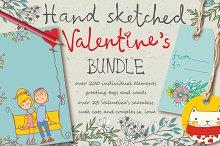 Hand sketched Valentine's Bundle
