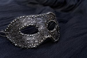Mask with masquerade decorations