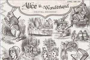 Alice in Wonderland Brushes