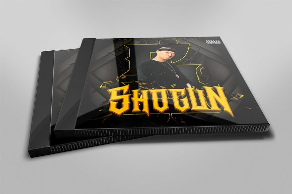 Shogun Mixtape Cover Template in Templates - product preview 1