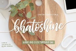 Bhatoshine - Fancy Font Duo