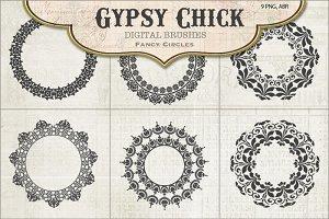 Fancy Gypsy Circle Brushes