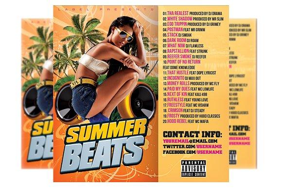 Summer Beats CD Cover Template