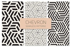Chevron Seamless Patterns. Set 4