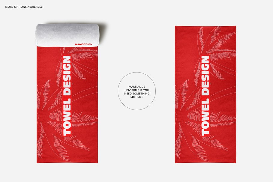 Beach Towel Scene Mockup in Product Mockups - product preview 2